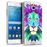 Coque Crystal Pour Galaxy Grand Prime Extra Fine Polygon Animals Lion