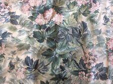 "Laura Ashley Valance Ashbourne Green Pink 86"" X 18"" 3"" Rod Pocket"