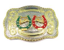New Belt Buckle Men Cowboy Western Rodeo Bull Rider Horse Shoe