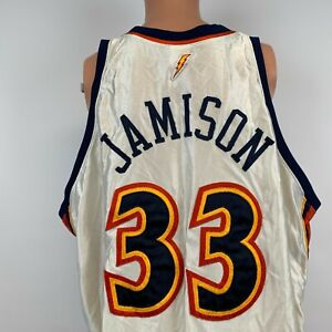 Reebok Authentic Antawn Jamison Golden State Warriors Jersey Vtg NBA Sewn 56 3XL