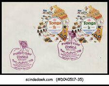 TONGA - 1979 10th Anniversary of freeform self adhesives stamps - 2V - FDC