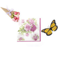 20pcs/bag flower Wedding Party 2ply Disposable 33cm Napkins wedding table decor^