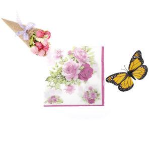 20pcs/bag flower Wedding Party 2ply Disposable 33cm Napkins wedding table_cd