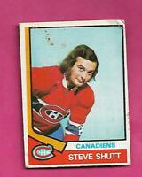 1974-75 OPC # 316 CANADIENS STEVE SHUTT  ROOKIE GOOD  CARD (INV# D4303)