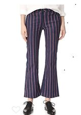 3 x 1 Crop Tabby Flare Pant Hayden Stripe Stretch Sz 24 Inseam 27.5 $245 Retail