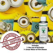 HYDROGRAPHIC WATER TRANSFER HYDRO DIPPING FILM KIT 6OZ ACTIVATOR & 1M MINIONS XX