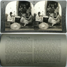 Keystone Stereoview of Women Weaving Panama Hats, ECUADOR From 600/1200 Card Set