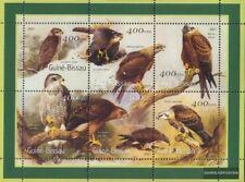 Guinée-bissau 1452-1457 Feuille miniature neuf avec gomme originale 2001 Oiseaux