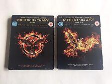 The Hunger Games: Mockingjay Part 1 & 2 Blu-ray Steelbook [UK] OOS/OOP NEW!