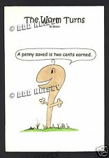 """""""A Penny Saved"""" Coin Limited Edition Worm Cartoon Art - Storyboard Entertainment"""