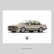 Limited Edition BMW E24 13X19 Print Poster 628CSi 635CSi M6 M3 M5 E30