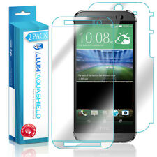2x iLLumi AquaShield Crystal Clear Screen Protector Shield Cover for HTC One M8