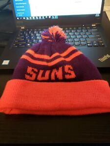 NBA Phoenix Suns Grossman Cap Cuffed Pom Winter Knit Hat Cap Beanie EUC