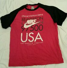 Men's Nike T-Shirt Red and Black Size L
