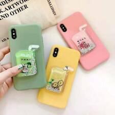 New Hot Quicksand Lemon Tea Cute Fashion Silicone Phone Case Cover For Samsung