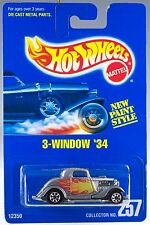 Hot Wheels Collector #257 3-Window '34 Silver w/7SP's 12350 MOC