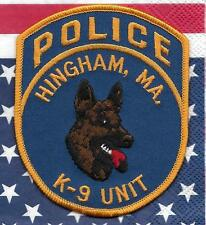 K-9  DHF MASSACHUSETTS  Hingham  Police Patch Polizei Abzeichen Hundeführer USA