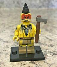 Genuine LEGO Minifigure - Tomahawk Warrior - Complete - Series 10 - col149