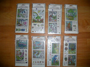 Hampton Art Coloring Clear Stamps-CHOOSE*Birthday*Think of You*Life Good*Amazing
