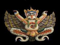 Garuda Aigle Ecru Maschera Nepalese 34cm Legno Himalaya Tantra Nepal 26744