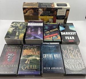 Horror/Thriller Audio Book Cassette Lot Of 11 - Anne Rice, Clive Barker & More!