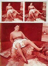 Stereo photo on glass erotic nu feminin 1900 - 1920/664 nude risque