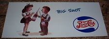 BIG SHOT PEPSI BOY & GIRL Whitney Darrow Jr.  TROLLEY / BUS   SIGN    Poster