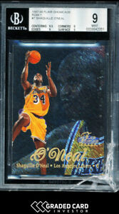 1997 Flair Showcase Shaquille O'Neal SSP Row 1 BGS 9 🔥 Cracked Case - No Damage