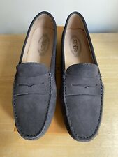Tod's Gommino Suede Driving Loafers - Dark Grey - Size IT 41.5, US 11.5