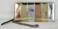 ** INC INTERNATIONAL CONCEPTS FARAHH Silver Faux Leather Wristlet/Wallet $49.50