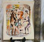 Vintage Calendar Original Print 1965 Mccartney Bill Ward Humoresque