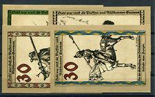 Suhl 4 Scheine Notgeld ...................................................2/7403