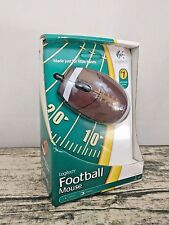 RARE Logitech FOOTBALL MOUSE 931267-0403 2-Tone 3-Button Wheel USB Optical Mouse