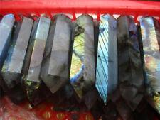 Natural Labradorite Quartz Crystal Wand Point Healing  DT1000g 2.2lb
