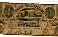 "$1 ""BANK OF GRANVILLE"" 1800'S RARE!! (OHIO) ""BANK OF GRANVILLE""  NICE NOTE!!!!!!"