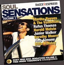Music CD, Soul Sensations, Martha Reeves, Harold Melvin, Billie Holiday