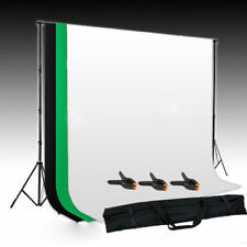 White Green Black Backdrop Photo Studio Chroma Key Screen Background Stand Kit