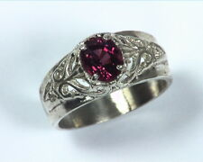 Red Spinel Natural Genuine Gemstone Set in Sterling Silver lady,s Ring RSS507