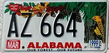 GENUINE Alabama Our Forest...Our Future License Licence Number Plate AZ 664