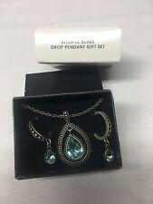 Avon Necklace Blissful Blues Drop Pendant Gift Set
