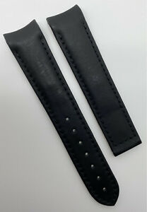 Authentic New Omega Seamaster 20mm x 18mm Black Rubber Watch Strap 98000037 OEM
