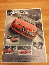 ALFA 147 GTA AUTODELTA 3.7 V6, classico auto Pubblicità C. 2004 opuscolo COLLEZIONISTI
