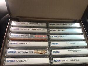 Lot 12 Adam ColecoVision Program Cassettes Donkey Kong Buck Rogers 10 Others