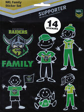 CANBERRA RAIDERS * NRL FOOTY FAMILY STICKER SET * NEW & SEALED