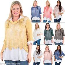 Maglie e camicie da donna maniche a 3/4 floreali m