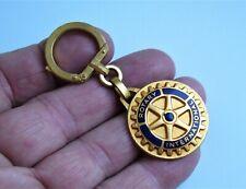 Ancien porte clé Augis émail Rotary International Années 60