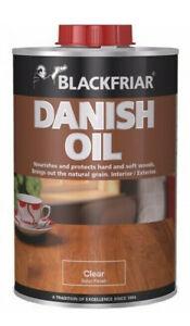 Blackfriar Danish Oil Interior Exterior Wood Protection Clear Satin 250ml