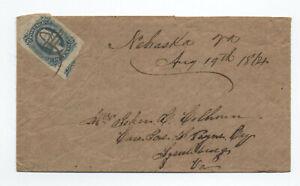 1864 Confederate States 10 cent cover #11b Nebraska VA manuscript [S.359]