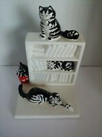 KLIBAN CATS Ceramic Bookend by Sigma Taste Setter with Extra Piece Glued On