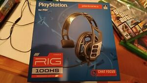 NIB NEW Plantronics Rig 100Hs Gaming Headset for PlayStation 4 Wired 3.5 mm Jack
